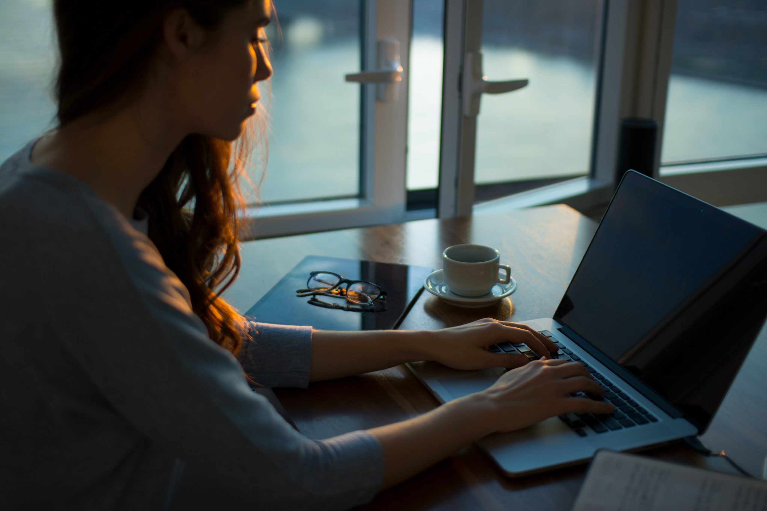 woman writing a job description